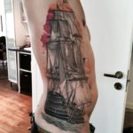 ribcage ship tattoo