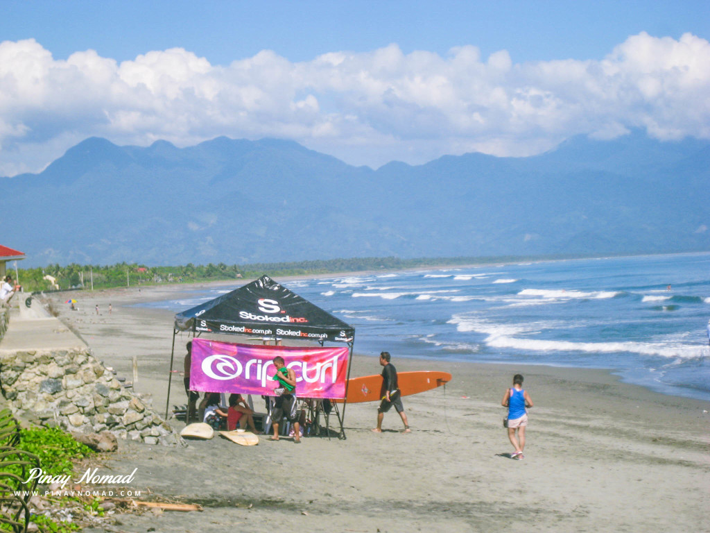 Surfing in Sabang beach