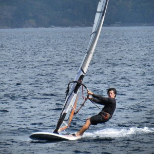 windsurfing in Anilao