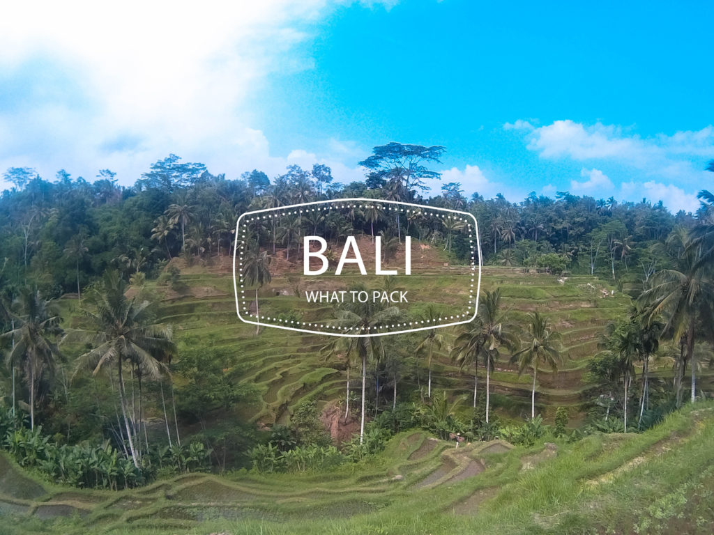 packing list for bali
