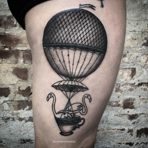 50 inspiring travel tattoos for travel addicts pinay nomad hot air balloon tattoos gumiabroncs Gallery