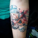 postage stamps tattoo
