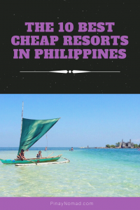 cheap beach resort near manila